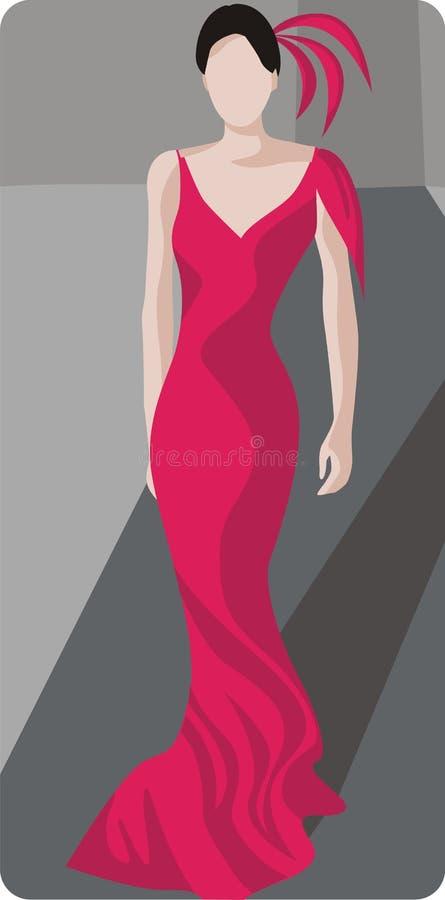 Fashion Model Illustration royalty free stock images