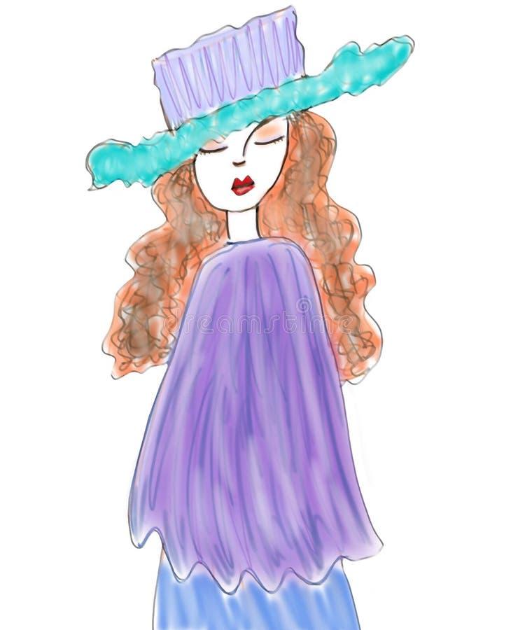 Fashion Model Illustration Royalty Free Stock Photography