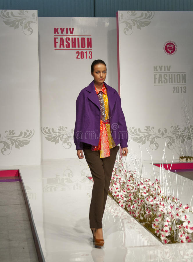 Fashion model at Kyiv Fashion 2013 royalty free stock images