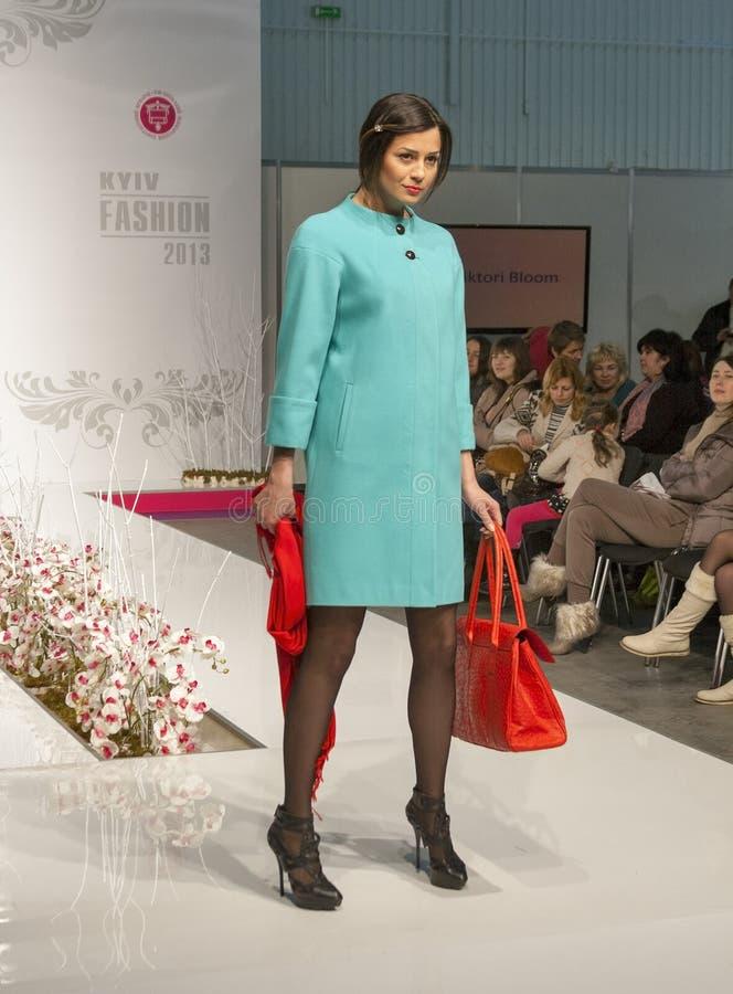 Fashion model at Kyiv Fashion 2013 stock images