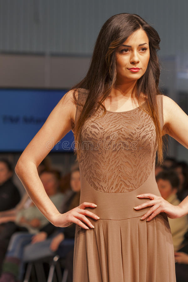 Fashion model at Kyiv Fashion 2013 royalty free stock photos