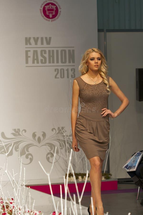 Fashion model at Kyiv Fashion 2013 stock photography