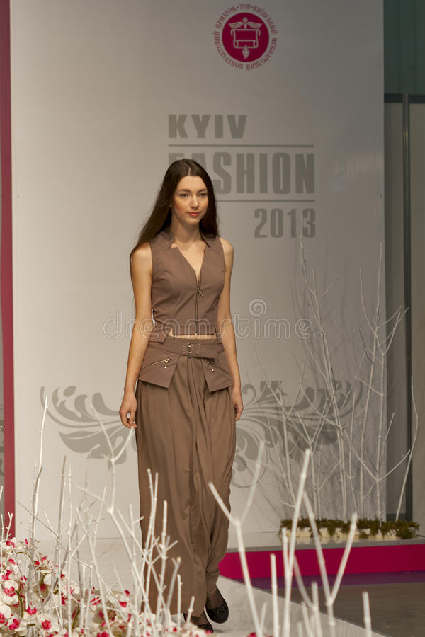 Fashion model at Kyiv Fashion 2013 stock image