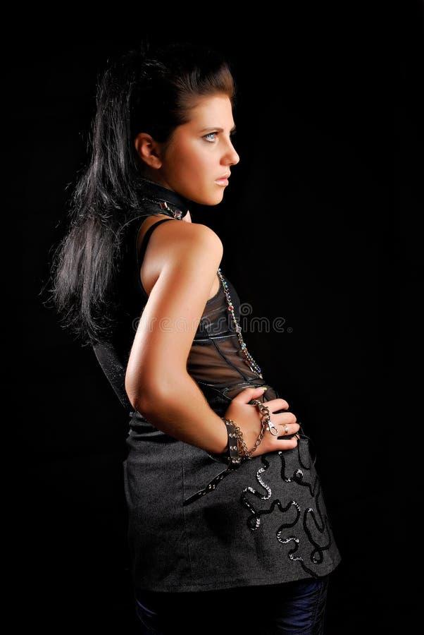 Fashion model pose royalty free stock photo