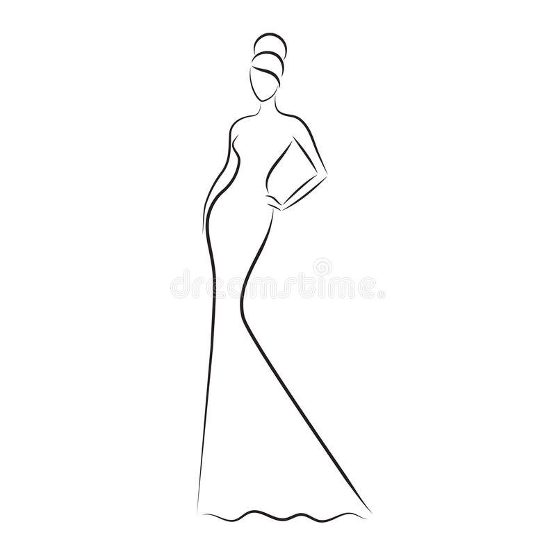 how to draw a fashion model sketch step by step