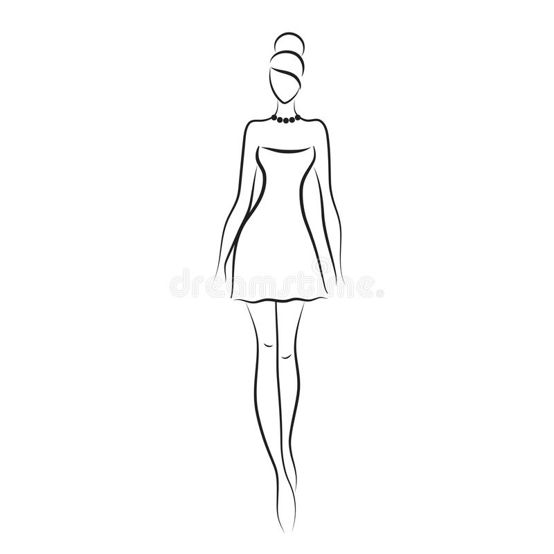 Fashion model stock vector. Illustration of fashion, sale ...