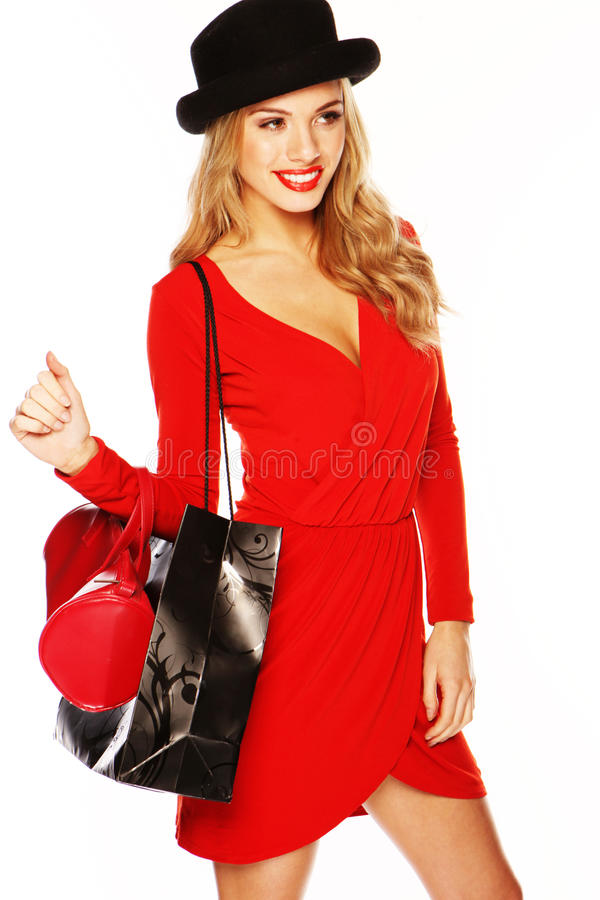 Download Fashion Model Wearing Red Outfit Stock Photos - Image: 23031873