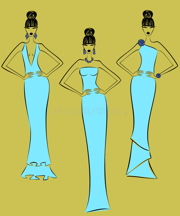 Fashion Models stock illustration