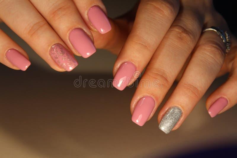 Fashion nails design manicure stock images