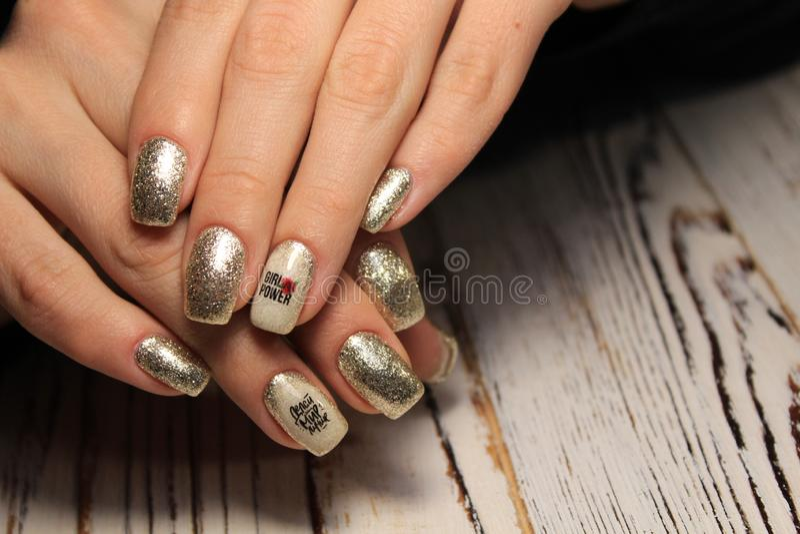 Fashion nails design manicure stock photography