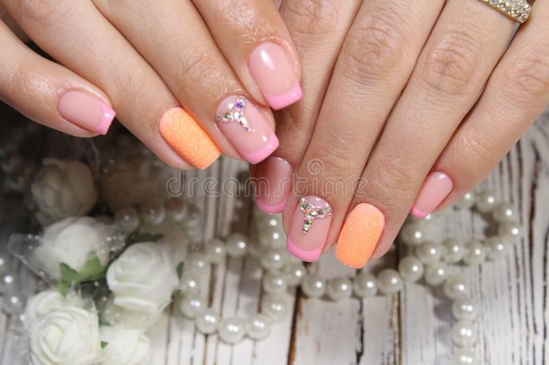 Fashion nails design manicure royalty free stock images