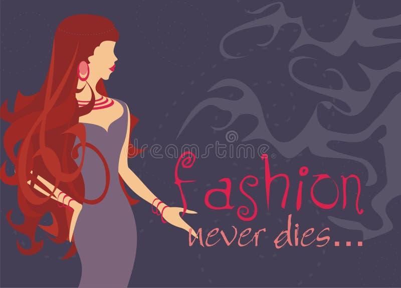 Fashion never dies vector illustration