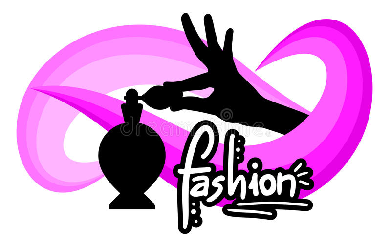Fashion perfume stock illustration