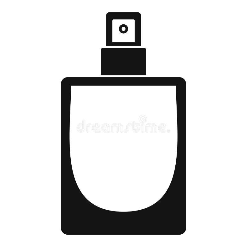Fashion perfume icon, simple style vector illustration