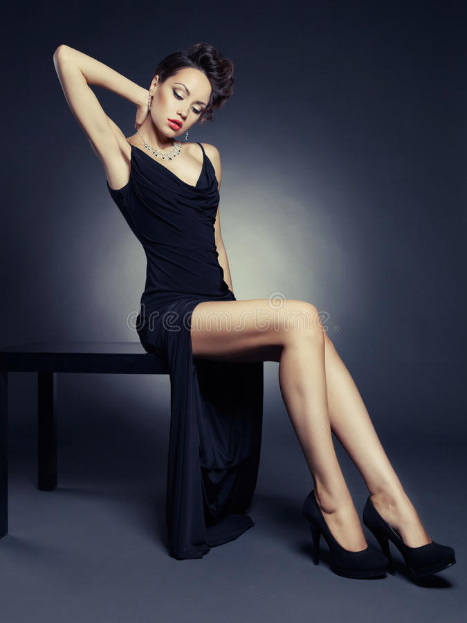 Download Elegant Lady In Evening Dress Stock Photo - Image: 29746516