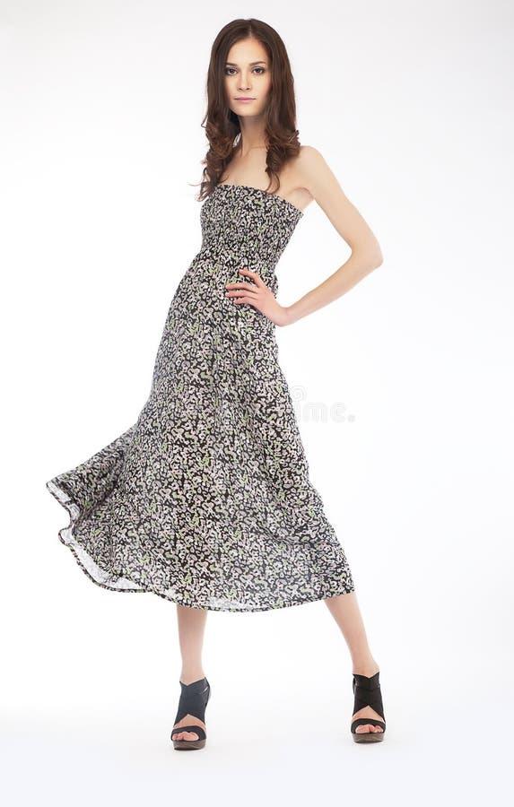 Download Fashion Photo - Lovely Girl In Grey Dress - Podium Stock Photo - Image: 24939904