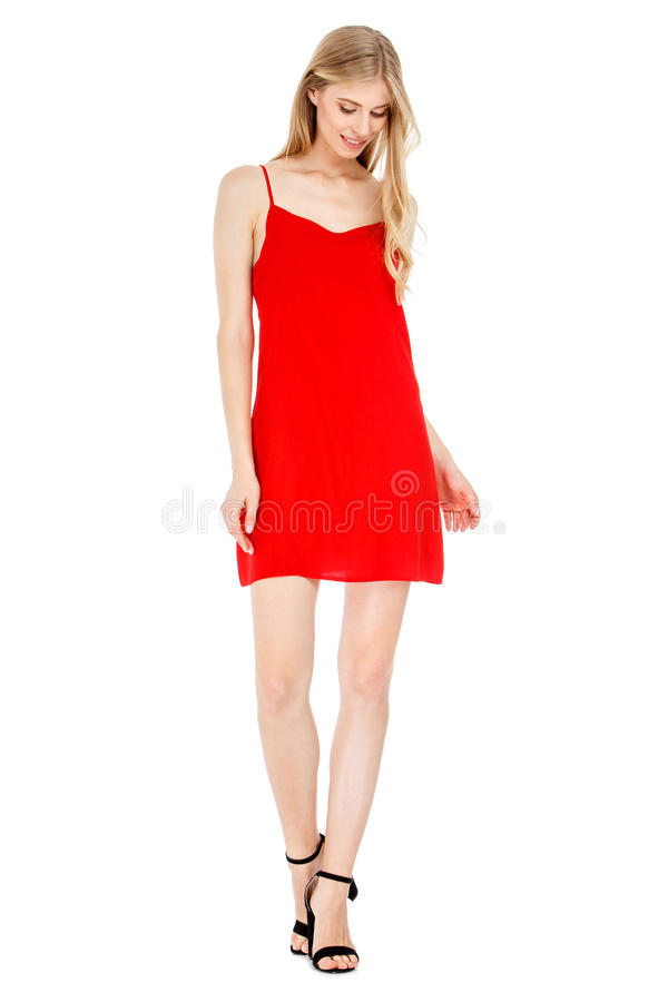 Fashion photo of young magnificent woman wearing fashionable summer clothes. Studio fashion photo of young magnificent woman wearing fashionable summer clothes royalty free stock photos