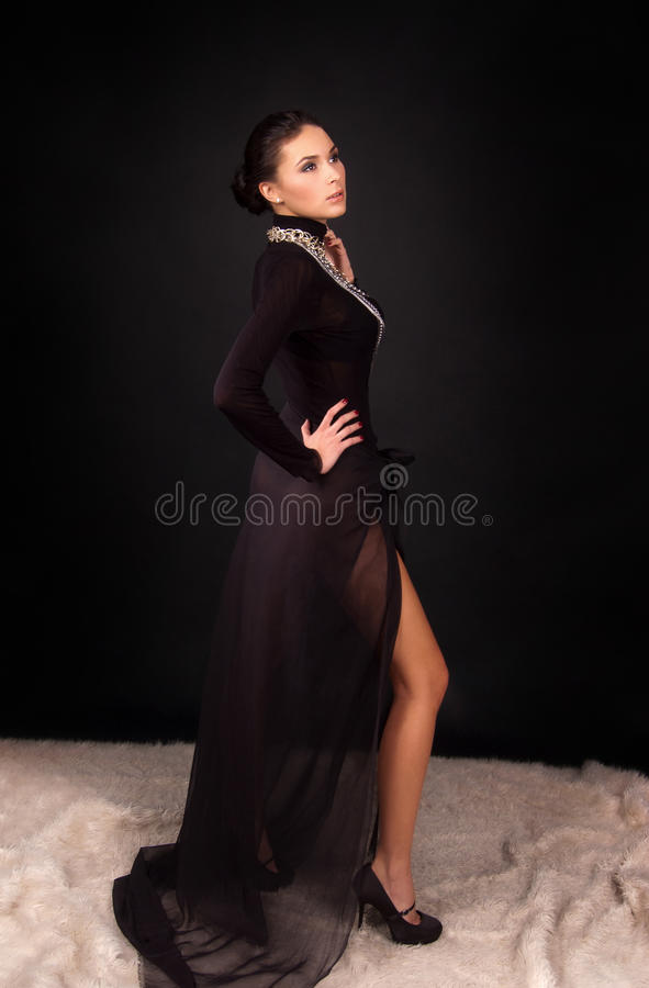 Fashion photo of a young woman royalty free stock images