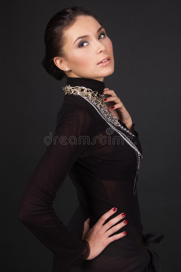 Fashion photo of a young woman royalty free stock photos