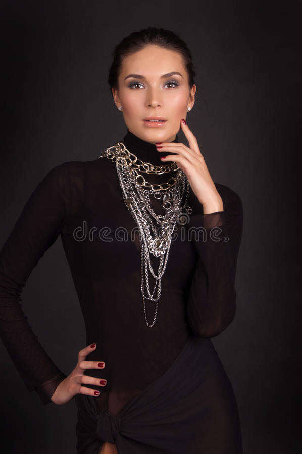 Fashion photo of a young woman stock photo