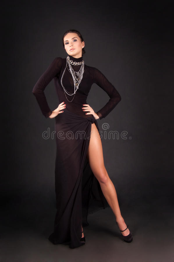 Fashion photo of a young woman stock photography