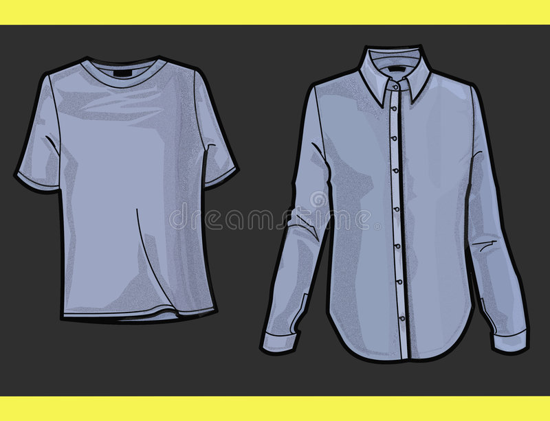 Download FASHION PLATE SHIRT AND T-SHIRT Royalty Free Stock Image - Image: 695516