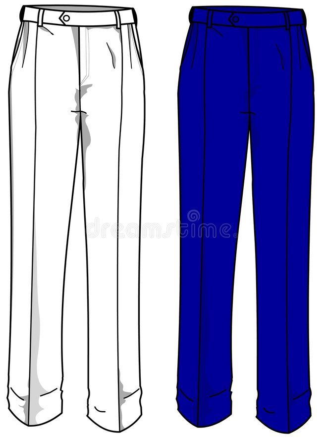 Fashion Plates Formal Trousers royalty free stock image