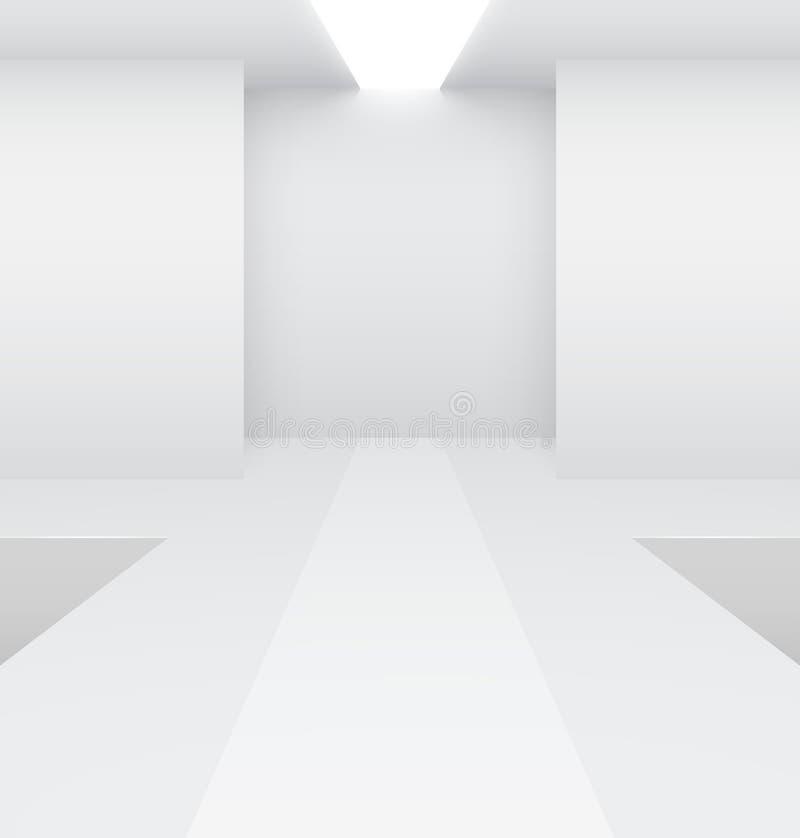 Fashion podium. Empty white interior. Fashion podium. Vector illustration