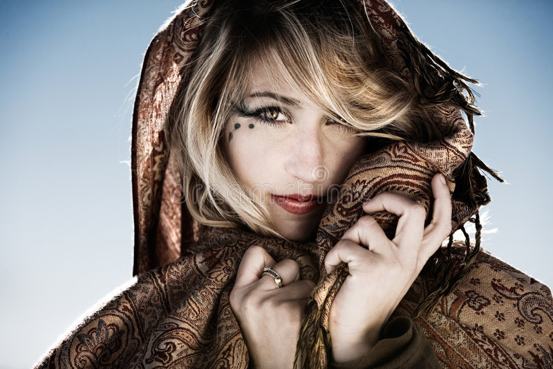 Fashion portrait royalty free stock photography
