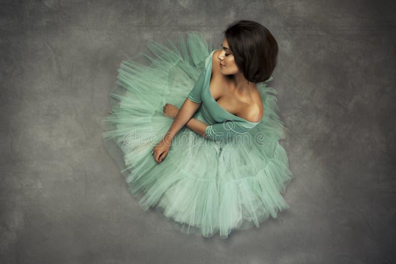 Fashion portrait of a beautiful brunette woman stock photography