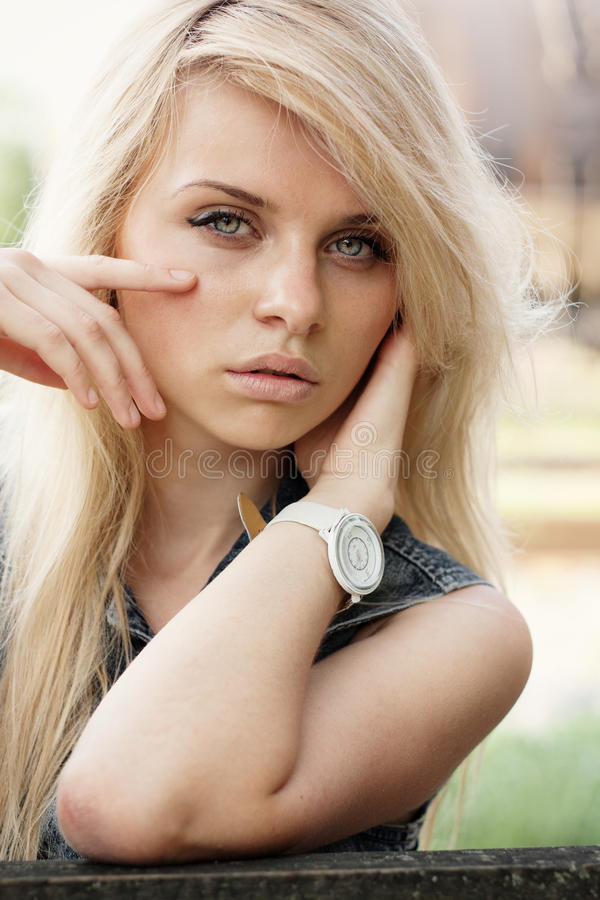Fashion portrait of a beautiful girl royalty free stock photos