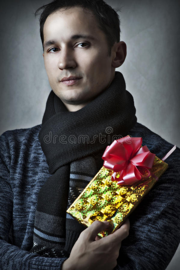Fashion Portrait Of Handsome Man Stock Photo