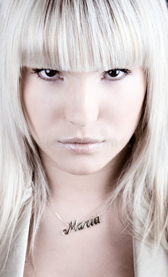 Fashion portrait - Maria royalty free stock image