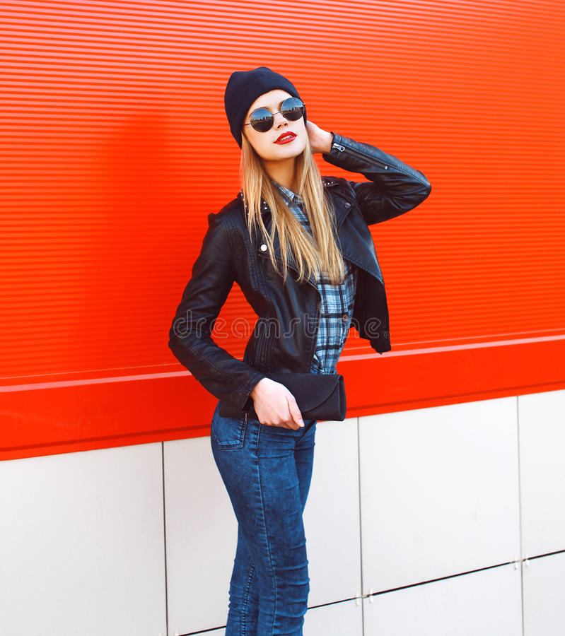 Free Fashion Portrait Of Pretty Blonde Girl In Rock Black Style Royalty Free Stock Photography - 53832837