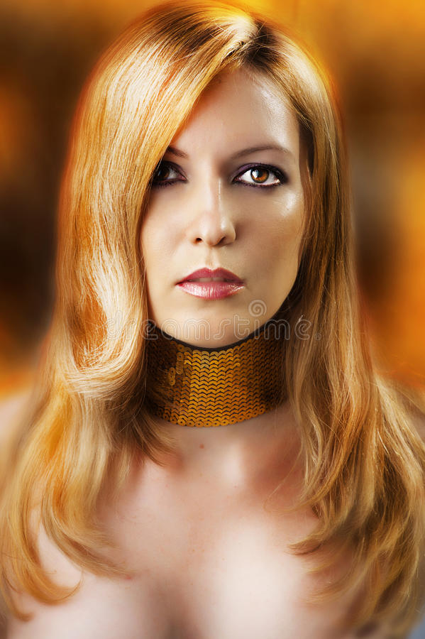 Fashion portrait of glamour woman royalty free stock image