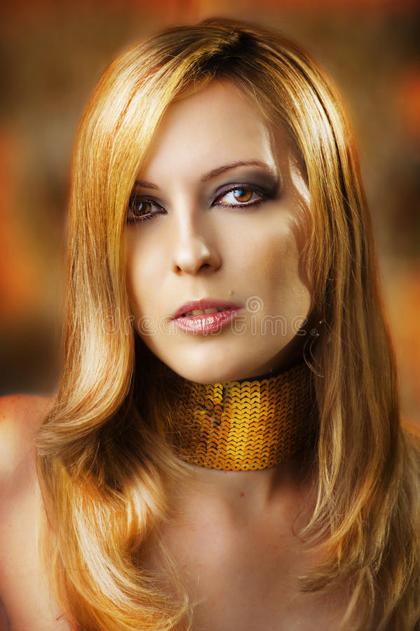 Fashion portrait of glamour woman. royalty free stock image