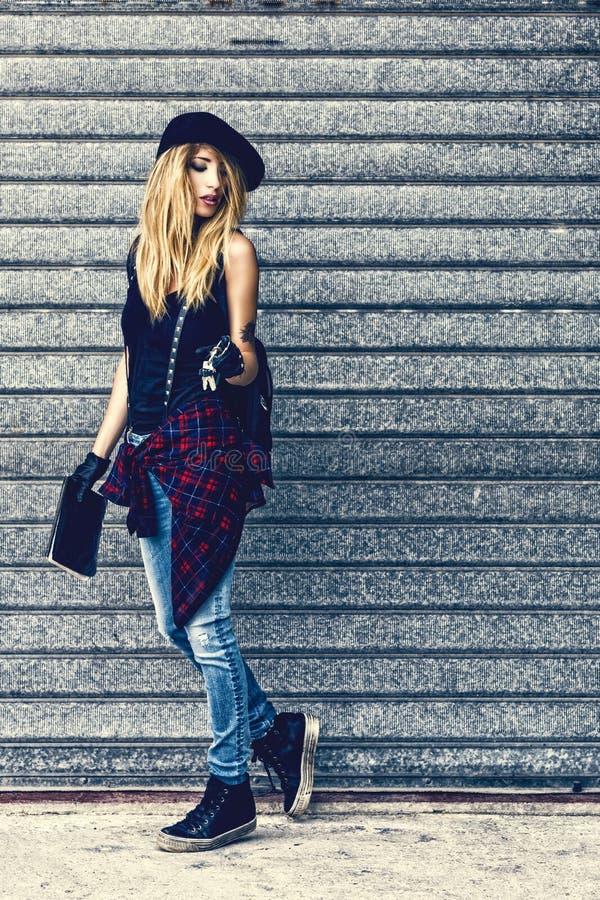 Fashion portrait of woman stock images