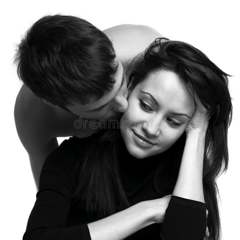 Fashion Portrait Of Young Lovers Stock Photo