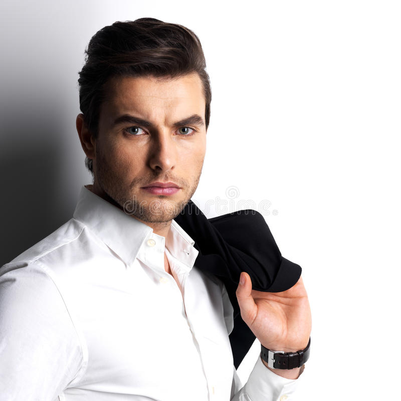 Download Fashion Portrait Of Young Man In White Shirt Stock Photo - Image: 29258066
