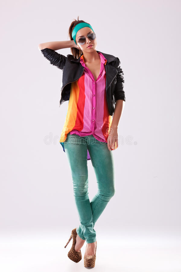 Download Fashion Pose Of A Young Woman Royalty Free Stock Photos - Image: 26587118