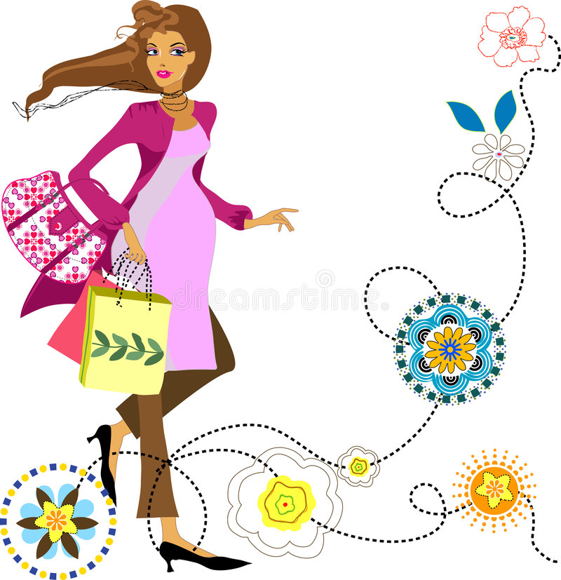Fashion pregnant woman stock illustration