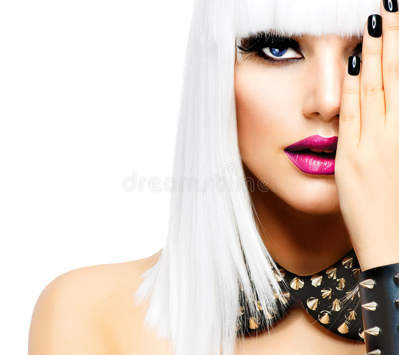 Fashion Punk Style Girl royalty free stock images
