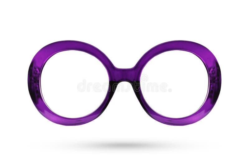 Fashion purple glasses style plastic-framed isolated on white ba royalty free stock image