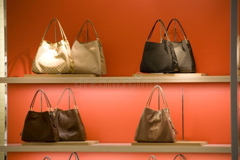 Fashion purse handbag Store royalty free stock image