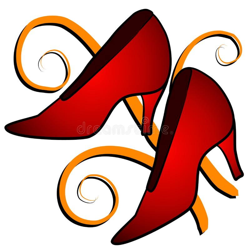 Fashion - Red High Heel Shoes royalty free stock photo