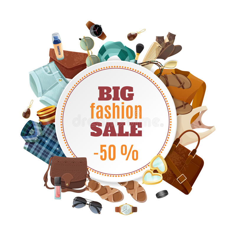 Fashion Sale Poster Stock Vector Image Of Event Flat 74920404