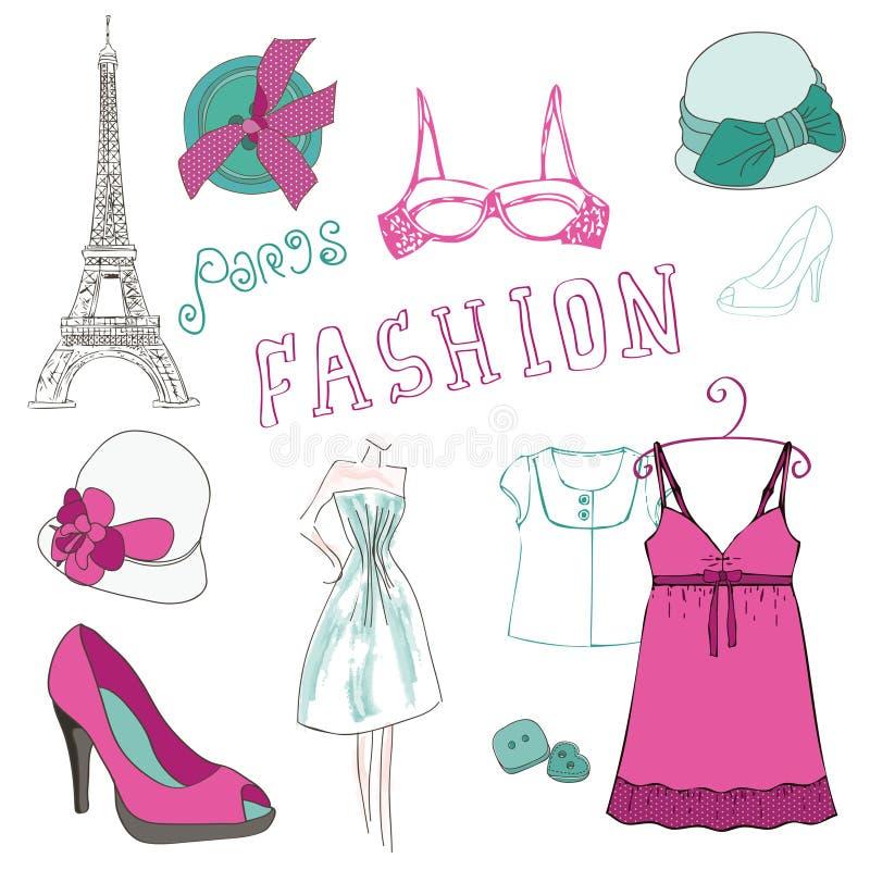 Fashion Scrap Elements - for your design stock illustration
