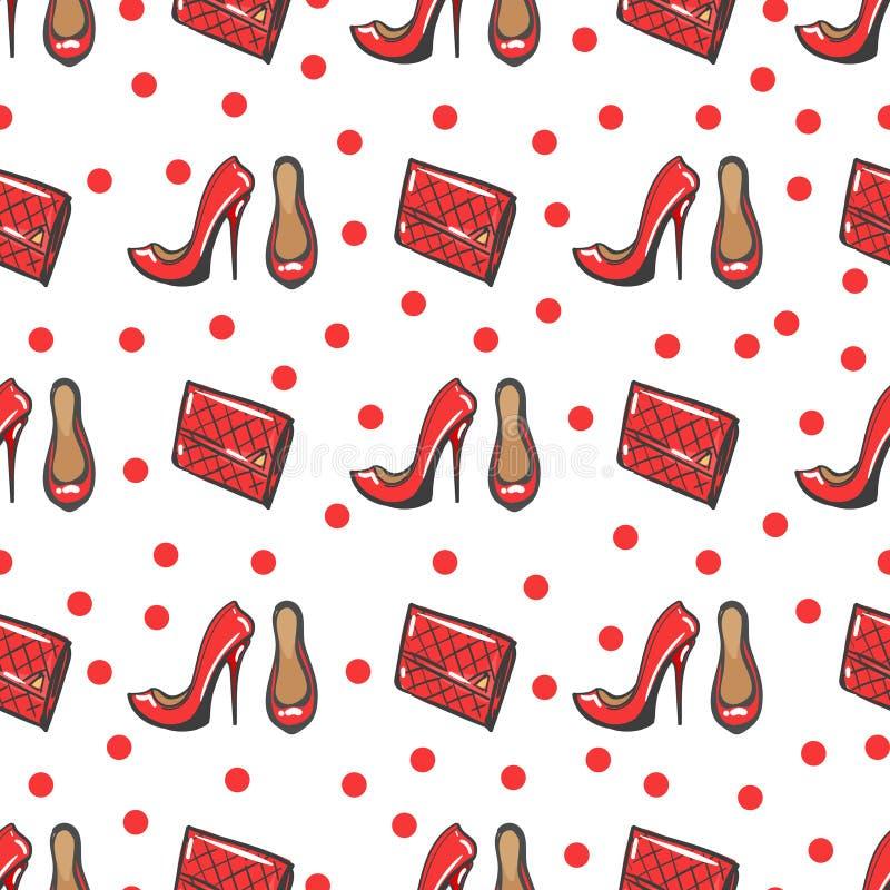 Fashion seamless pattern royalty free illustration