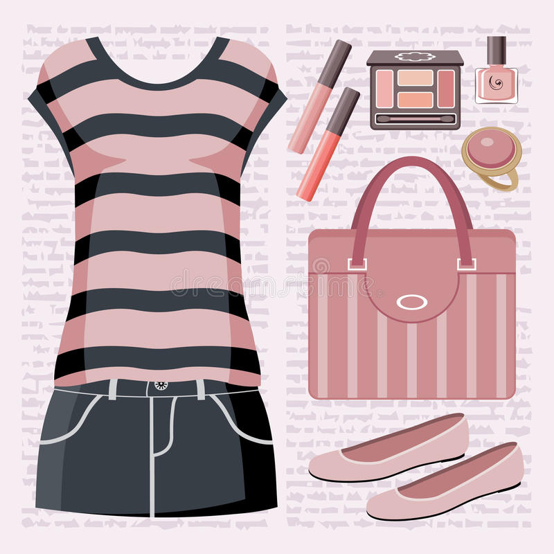 Download Fashion Set With A Top And A Skirt. Stock Image - Image: 26287261