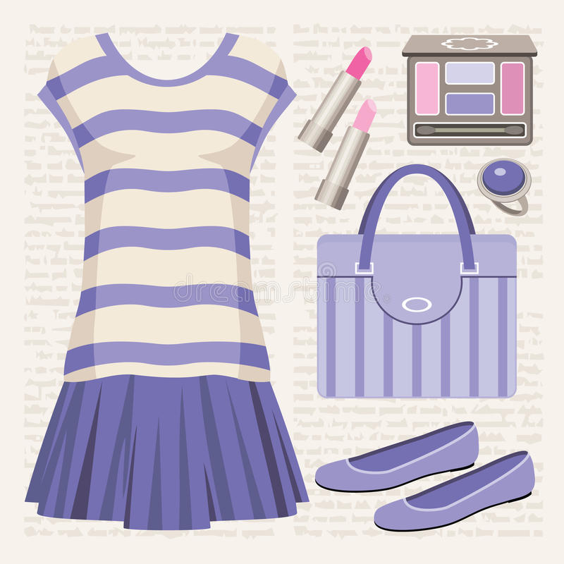 Download Fashion Set With A Top And A Skirt. Stock Vector - Image: 26287290
